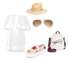 """summer in the city"" by szilvi-srei on Polyvore featuring Apiece Apart, Alice + Olivia, Ray-Ban and Tommy Hilfiger"