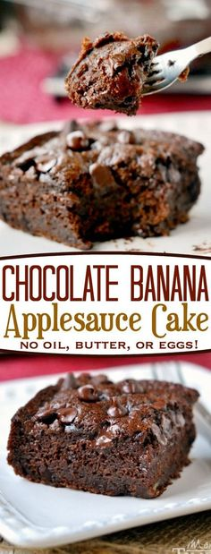Chocolate Banana Applesauce Cake