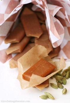 Honey and Cardamom Fleur de Sel Caramels - Baking Obsession