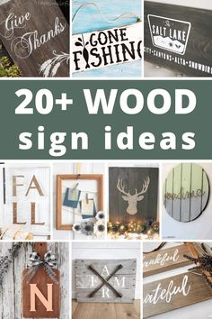So gather up your scrap wood, and see what kind of beautiful signs you can make! Even though you are making them yourself, they're still so easy to make. Here are the best wooden sign ideas to make for your home.
