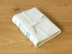 Rainbow journal - Vegan travel journal - Small notebook - Handmade notebook - Anniversary gift - Colorful guestbook by CadenetaNotebooks
