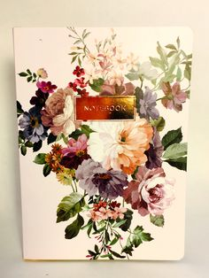 Floral Journal - Taking the pain out of note taking with this floral notebook - We love stationary and this is as beautiful as it is functional.