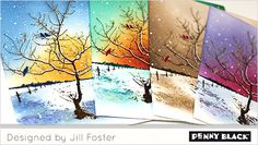 Featuring new stamps and dies from Penny Black's newest collection, Peaceful Winter 2017-- click through for details and a video