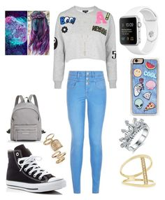 """Young fashion # 65"" by demacracy ❤ liked on Polyvore featuring Topshop, New Look, Converse, Longchamp, Zero Gravity, House of Harlow 1960 and Sydney Evan"