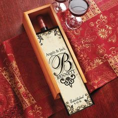 Decorative Wine Box NOT THIS ONE, BUT AN IDEA FOR THEM PERSONALIZED SOMEWHERE ESLE