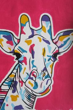 Giraffe painting by Simone vd Koelen