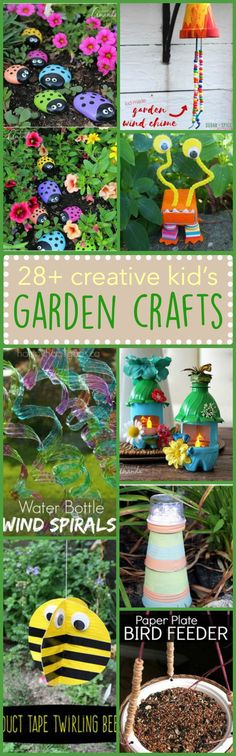 These are adorable for Botany! Kid's Garden Crafts: We've collected simple, fun, creative, and unique ideas that are sure to fit just about anyone's tastes. Garden Crafts For Kids, Crafts For Kids To Make, Summer Crafts, Projects For Kids, Diy And Crafts, Craft Projects, Arts And Crafts, Craft Ideas, Kids Diy