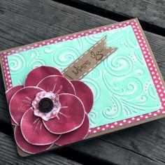 Craft-e-Corner Blog * Celebrate Your Creativity: Simple Circle Punch Flower Card Tutorial & Distressing Techniques