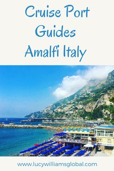 Cruise Port Guides: Amalfi Italy - Amalfi can be a tender cruise port but, can also be visited from the cruise port of Naples or Salerno in Italy. Cruise Europe, Cruise Port, Cruise Travel, Cruise Vacation, Cruise Tips, Disney Cruise, Italy Travel Tips, Packing Tips For Travel, Travel Hacks