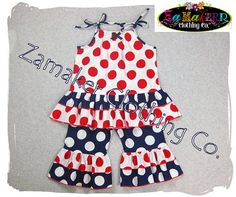 4th of July Girl Outfit  Patriotic Outfit  by ZamakerrClothingCo, $44.50//  Cute!!!