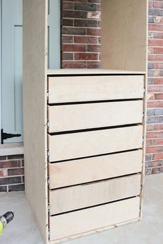 Woodworking Projects Easy How to Build a Small Closet Organizer.Woodworking Projects Easy How to Build a Small Closet Organizer Dresser In Closet, Closet Drawers, Diy Drawers, Closet Renovation, Closet Remodel, Bedroom Closet Design, Closet Designs, Diy Master Closet, Small Closet Design