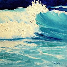 SURF, daily painter ocean wave Carol Nelson Fine Art, painting by artist Carol Nelson