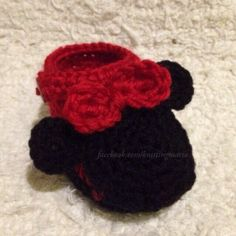 Make Adorable Crocheted Minnie Mouse Booties | Guidecentral