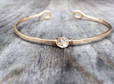 Herkimer Diamond Cuff Bracelet by niccoletti® on Etsy