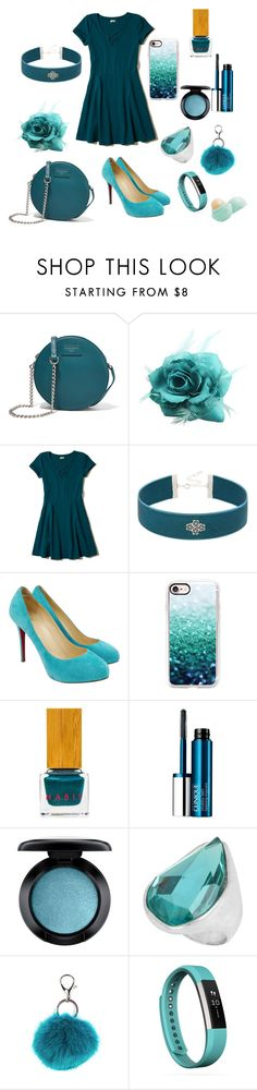 """""""TEAL"""" by southgateeliteemily ❤ liked on Polyvore featuring Dolce&Gabbana, Hollister Co., Christian Louboutin, Casetify, Habit Cosmetics, Clinique, MAC Cosmetics, Robert Lee Morris, Carole and Fitbit"""