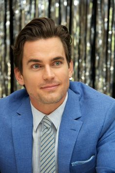 Pin for Later: 37 Times You Could Not Handle Matt Bomer's Handsomeness When His Eyes Were Seriously, Seriously Blue They're like a piercing arrow through your heart.