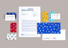 Identité visuelle pour la Direction de l'Éducation de la Ville de Chalon-sur-Saône. Une charte graphique en forme de jeu de construction pour communiquer facilement sur les activités extra-scolaires et périscolaires.