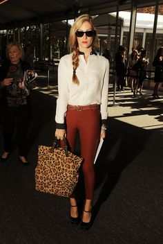 side braid and leopard tote // Joanna Hillman