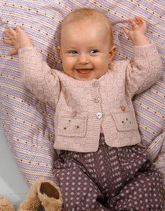 Rosa babytrøje i tern - Hendes Verden