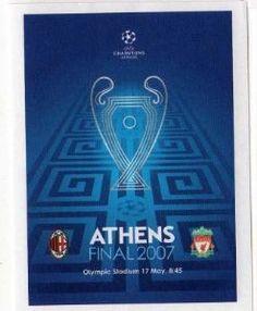 A.C. MILAN vs LlVERPOOL - Programme Cover 2007 #560 PANINI UEFA Champions League 2010-2011 Football Sticker