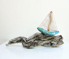 Stormy Seas Driftwood Boat $119