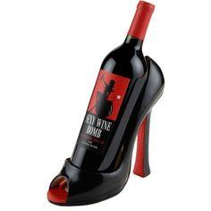Catalog Spree - Classic Black Stiletto Wine Bottle Holder - International Wine Accessories