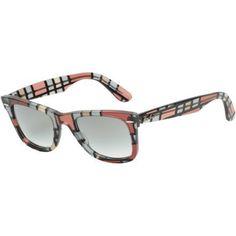 7eba12ac0c3 Ray-Ban offer the best Ray-Ban Original Wayfarer Sunglasses Red  Beige Crystal Gray Gradient