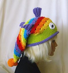 Gallery For > Crochet Fish Hat