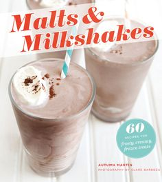 """Read """"Malts & Milkshakes 60 Recipes for Frosty, Creamy Frozen Treats"""" by Autumn Martin available from Rakuten Kobo. This sweet collection of 60 recipes puts a new spin on an old-fashioned treat with comforting dessert drinks from times . Cookies And Cream Milkshake, Malt Milkshake, Milkshake Recipes, Milkshakes, Molten Chocolate, Chocolate Espresso, Homemade Syrup, Malted Milk, Oatmeal Raisin Cookies"""