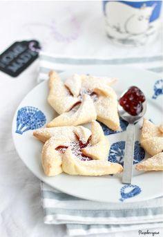 Himmlisch leckere Joulutorttu (finnische Windmühlenkekse)