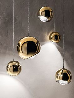 Pendant, 'Spider', designed by Andrea Tosetto, with a flexible head.