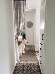 Curtains on Doorways: Creative Concealments #kitchencurtains