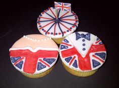 British cupcakes by Pastanın Öykü'sü Cookie Bakery, Wedding Cupcakes, British, Sugar, Cookies, Desserts, Food, Crack Crackers, Tailgate Desserts