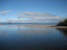 Lake Taupo, NZ - the view from the middle of the Hinemaia River