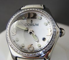 Corum Ladies Watch  (Bubble Wristwatch, Diamond Bezel, Pre-owned Women's Watches)