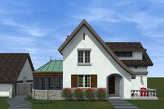 Traditional Style House Plan - 3 Beds 2.5 Baths 1706 Sq/Ft Plan #933-2