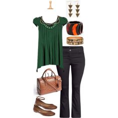 """""""Tribal inspiration for a wear-at-work look. Plus size style and fashion."""""""