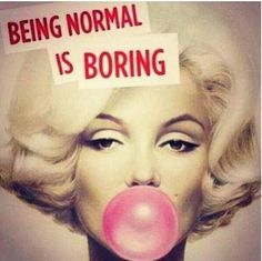Lucky I'm not normal
