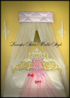 Ballerina BeD CaNoPy CrIb Ballet Upholstered by SoZoeyBoutique