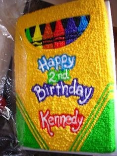 Crayon Cake for a kid's birthday