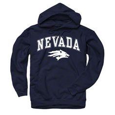Nevada Wolf Pack Navy Perennial II Hooded Sweatshirt