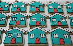 Realtor Open House Cookies Cookie House, Cookie Decorating, New Product, Sugar Cookies, Open House, Cake Pops, The Hamptons, House Warming, Party Favors