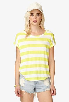 Striped Boxy Tee | FOREVER21 - 2019536064