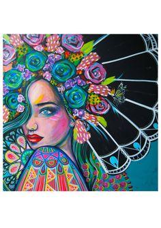 ISLA - Signed Art Print mimby jones robinson Living In Adelaide, Artist Wall, Mixed Media Painting, Art Journal Inspiration, Street Artists, Fine Art Paper, Art Prints, Artwork, Instagram Posts