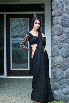 Sexy Black #saree #sari #blouse #indian #outfit #shaadi #bridal #fashion #style #desi #designer #wedding #gorgeous #beautiful