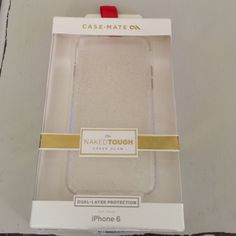 New!! Case Mate glitter iPhone 6 case Never used comes in box. Opened box but doesn't fit my phone. Perfect condition clear with silver glitter. Case Mate Accessories Phone Cases