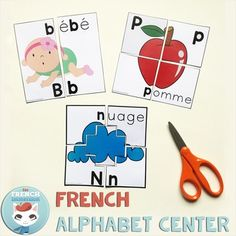 French Alphabet Centers Bundle - Centres de littératie: l& French Teacher, Teaching French, French Alphabet, French Immersion, Literacy Centers, Foreign Languages, Lower Case Letters, Puzzles, Lettering