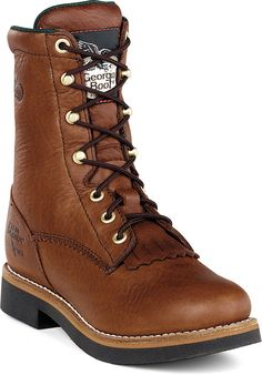 """Women's Work Boot - Georgia Boot 8"""" Lacer Work Boot. Perfect for women who do the tough work.                                                                                                                                                     More"""