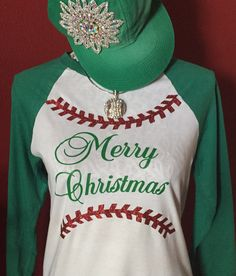 Baseball Alley Designs - Baseball Christmas Raglan, $28.00 (http://baseballalley.net/baseball-christmas-raglan/)
