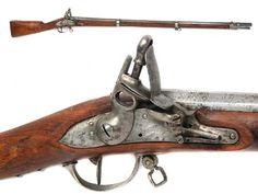 Fusil, de avancarga, con llave de chispa.